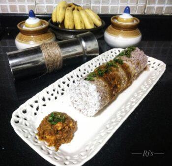 Paneer Masala Puttu/Steamed Rice Flour Paneer Cake - Plattershare - Recipes, Food Stories And Food Enthusiasts