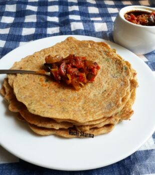 Adai Dosa With Tomato Chutney(Thakkali Thokku) - Plattershare - Recipes, Food Stories And Food Enthusiasts