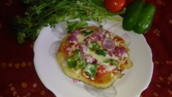 Pizza Uttapam - Plattershare - Recipes, Food Stories And Food Enthusiasts