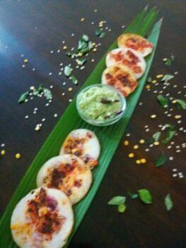 Rava Mini Masala Uttapa - Plattershare - Recipes, Food Stories And Food Enthusiasts