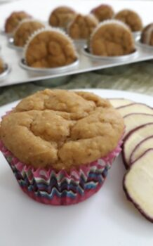 Eggless Sweet Potato Wheat Muffins - Plattershare - Recipes, Food Stories And Food Enthusiasts
