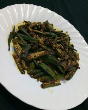 Okra Fry - Plattershare - Recipes, Food Stories And Food Enthusiasts