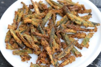 Kurkuri Bhindi Recipe In Air Fryer - Plattershare - Recipes, Food Stories And Food Enthusiasts