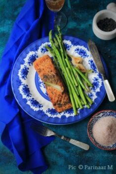 Pan Seared Salmon With Asparagus (Pan Grilled Salmon) - Plattershare - Recipes, Food Stories And Food Enthusiasts