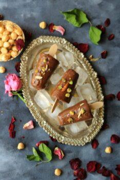 Vegan Dark Chocolate Hazelnut Popsicles - Plattershare - Recipes, Food Stories And Food Enthusiasts
