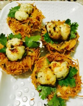 Potato Cheese Nest With Paneer Eggs - Plattershare - Recipes, Food Stories And Food Enthusiasts
