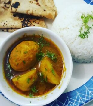 Anda Aloo Curry - Egg Potato Curry - Anda Aloo Gravy - Plattershare - Recipes, Food Stories And Food Enthusiasts
