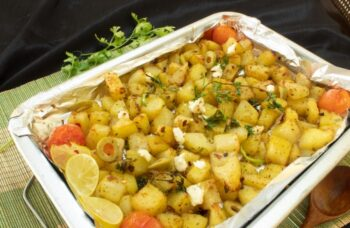 Roasted Potatoes With Feta Cheese &Amp; Herbs - Plattershare - Recipes, Food Stories And Food Enthusiasts