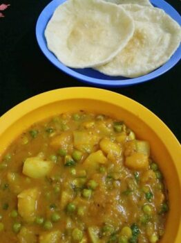 Aloo Matar Sabzi/ Potato Peas Curry - Plattershare - Recipes, Food Stories And Food Enthusiasts