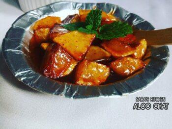 Aloo Chat - Chatpate Aloo - Plattershare - Recipes, Food Stories And Food Enthusiasts