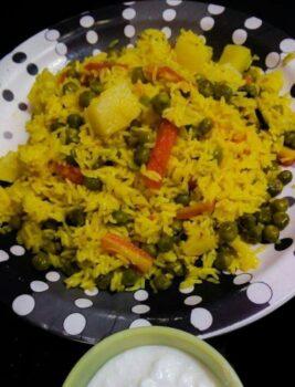 Veg Batata Taheri - Plattershare - Recipes, Food Stories And Food Enthusiasts
