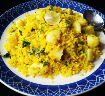 Kanda Batata Poha - Plattershare - Recipes, Food Stories And Food Enthusiasts