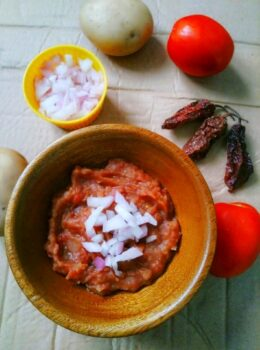Naga Style Potato Chutney/ Spicy Potato Chutney - Plattershare - Recipes, Food Stories And Food Enthusiasts