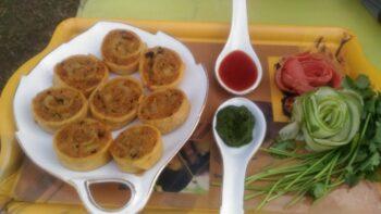 Pinwheel Samosa - Plattershare - Recipes, Food Stories And Food Enthusiasts