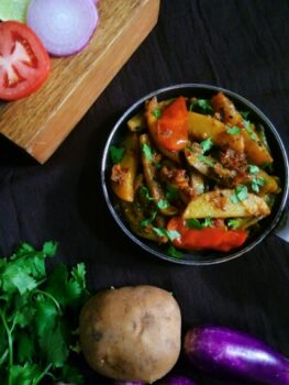 Paanch Puran Potato Brinjal Fry - Plattershare - Recipes, Food Stories And Food Enthusiasts