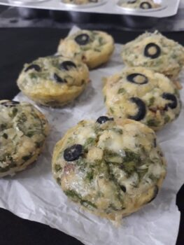 Italian Potato Olives Frittata Muffins - Plattershare - Recipes, Food Stories And Food Enthusiasts