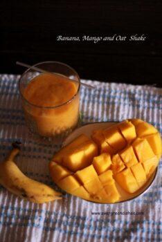 Banana Mango Oat Shake - Plattershare - Recipes, Food Stories And Food Enthusiasts