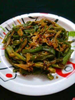 Stir Fry Okra / Stir Fry Bindi - Plattershare - Recipes, Food Stories And Food Enthusiasts