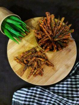 Crispy Ladies Finger / Kurkuri Bhindi - Plattershare - Recipes, Food Stories And Food Enthusiasts