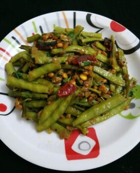 Cluster Bean Fry - Plattershare - Recipes, Food Stories And Food Enthusiasts