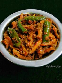 Gajar Mirchi Instant Achaar /Carrot And Green Chilly Instant Pickle - Plattershare - Recipes, Food Stories And Food Enthusiasts