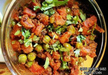 Gajar Matar Ki Sabzi - Plattershare - Recipes, Food Stories And Food Enthusiasts