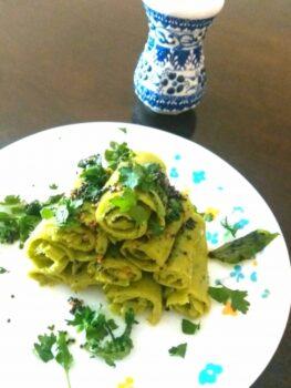 Italian Khandvi - Plattershare - Recipes, Food Stories And Food Enthusiasts
