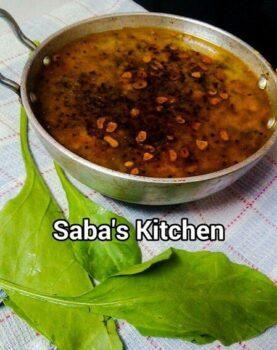 Lehsooni Palak Dal - Plattershare - Recipes, Food Stories And Food Enthusiasts