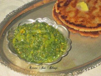 Aesee Sai Bhaji / Nijji Palak - Plattershare - Recipes, Food Stories And Food Enthusiasts