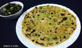 Spring Onion Paratha - Hare Pyaaz Ka Paratha - Plattershare - Recipes, Food Stories And Food Enthusiasts