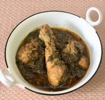 Palak Murgh / Palak Chicken / Chicken Curry With Spinach - Plattershare - Recipes, Food Stories And Food Enthusiasts