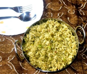 Green Rice Pulao (Rice With Greens) - Plattershare - Recipes, Food Stories And Food Enthusiasts