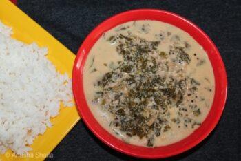 Amaranthus Buttermilk Curry (Harive Soppu Majjige Huli) - Plattershare - Recipes, Food Stories And Food Enthusiasts