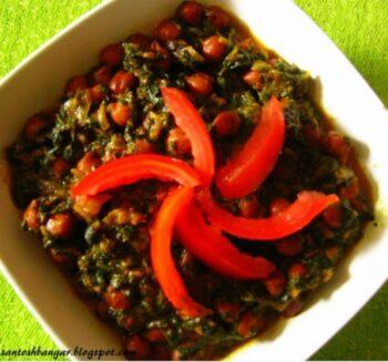 Palak Kalachana Subji..... - Plattershare - Recipes, Food Stories And Food Enthusiasts