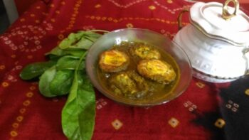 Palak Anda Curry - Plattershare - Recipes, Food Stories And Food Enthusiasts