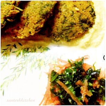 Spinach Cracked Wheat (Daliya)Idl - Plattershare - Recipes, Food Stories And Food Enthusiasts