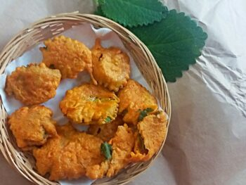 Carom Leaves Fritters - Plattershare - Recipes, Food Stories And Food Enthusiasts