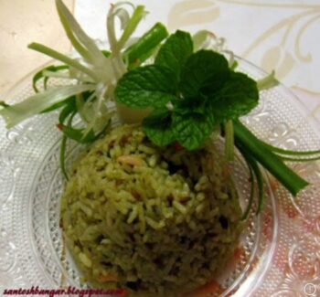 Mint Rice(Leftover) - Plattershare - Recipes, Food Stories And Food Enthusiasts