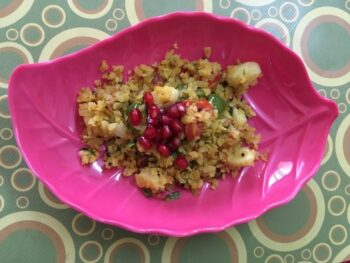 Vegetable Poha - Plattershare - Recipes, Food Stories And Food Enthusiasts