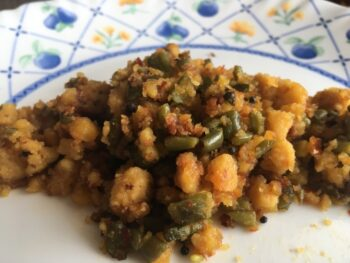 Beans Paruppu Usali - Plattershare - Recipes, Food Stories And Food Enthusiasts