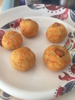 Carrot Milky Ladoo - Plattershare - Recipes, Food Stories And Food Enthusiasts