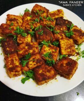 Tawa Paneer - Plattershare - Recipes, Food Stories And Food Enthusiasts
