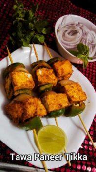Tawa Paneer Tikka - Plattershare - Recipes, Food Stories And Food Enthusiasts