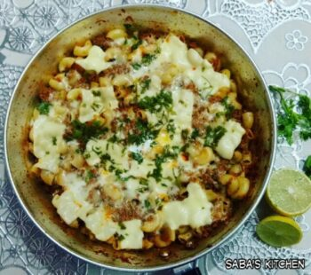 Cheese Mutton Macaroni - Plattershare - Recipes, Food Stories And Food Enthusiasts