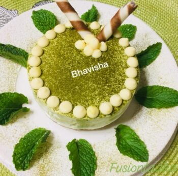 Matcha And Sitafal Cheesecake - Plattershare - Recipes, Food Stories And Food Enthusiasts