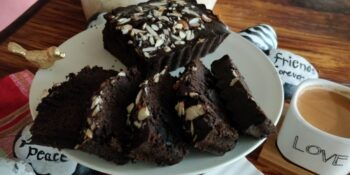 Rice And Bajra Flour Chocolate Almond Cake - Plattershare - Recipes, Food Stories And Food Enthusiasts