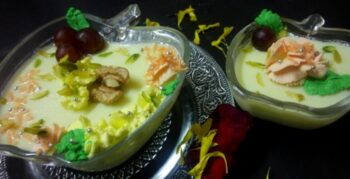 Saffron Cardmon Pannacotta In My Way - Plattershare - Recipes, Food Stories And Food Enthusiasts