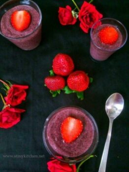 Black Rice Strawberry Mousse - Plattershare - Recipes, Food Stories And Food Enthusiasts