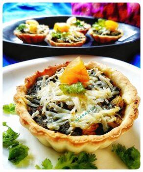 Methi Paneer Tarts And Tartlets - Plattershare - Recipes, Food Stories And Food Enthusiasts