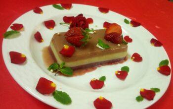 Three Layerd Strawberry Pannacotta - Plattershare - Recipes, Food Stories And Food Enthusiasts
